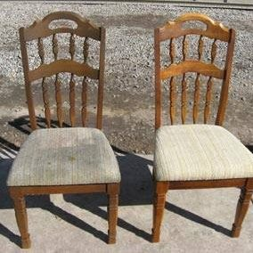 Chair cleaning before and after